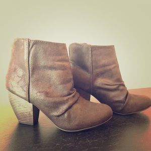 Brown, low rise booties